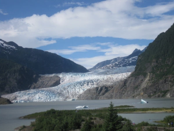 The breathtaking view of Alaska from the Kosherica cruise ship.