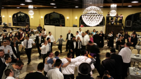 Dancing in TheZone on Chol Hamoed Sukkos was still going strong past 2 am.