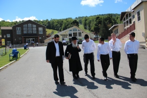 rabbi and staff